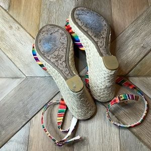 Rocket Dog Shoes - Rocket dog rainbow sandal wedges
